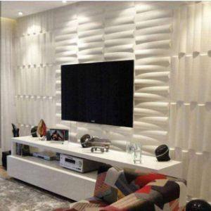 Decoración de Interiores 3D Ola tallada en el panel de pared para TV el fondo, el Hotel