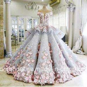 Flores boda vestidos de bola azul Z3033 Quinceanera vestidos de novia