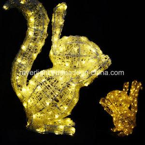 3D LED Kaninchen-Weihnachtsim freienbeleuchtung-Dekoration für Feiertag