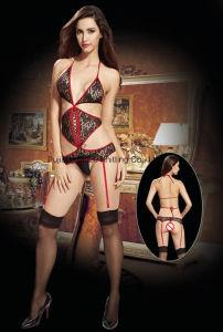 Mesdames Sexy Fishnet & Lace jarretière Backless corps d'ensemencement de patinage