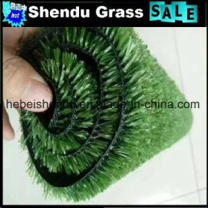 Kunstmatig Gras 10mm voor Vloer met de Groene Kleur van de Olijf