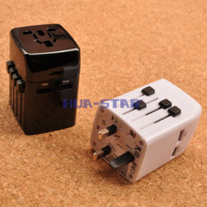 Nuovo Multifunction World Travel Adapter con 2 il USB Charger