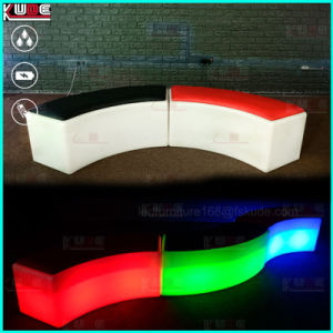 Doblar las heces color Changeing LED recargable otomano otomanos