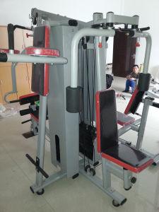 Varios equipos de fitness gimnasio integrado formador de la estación cinco
