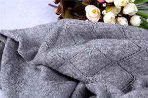 カシミヤ織は編まれたショールのCS15081301Lカシミヤ織のスカーフをコンピュータ化した