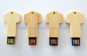 Новый диск 2 ГБ флэш-накопитель из светлого дерева флэш-диска USB