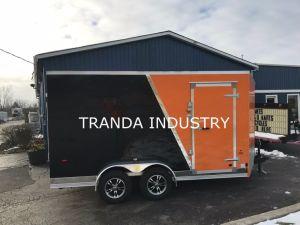 2017 Remolque V nariz 7x13 Customerized cerrado por carretera de la motocicleta de rampa y puerta lateral