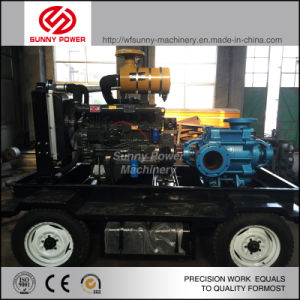 Diesel en varias etapas de la bomba de agua para riego y la lucha contra incendios con alta presión
