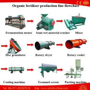 10tpd de Meststof die van de Mest van de kip tot Machine maken de Organische Granulator van de Meststof