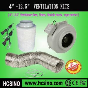 4  ~12.5 換気System Kits (Inline Fansのカーボンフィルター、Flexibleダクト、ロープのラチェットのハンガー)