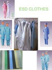 Vestido de trabajo de ESD / ropa de Smock para uso en salas blancas