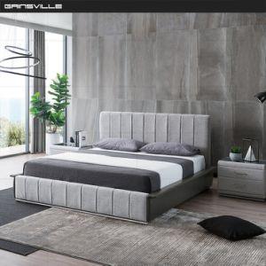 Clásico estilo italiano y muebles de dormitorio cama tejido Almacenamiento disponible GC1808