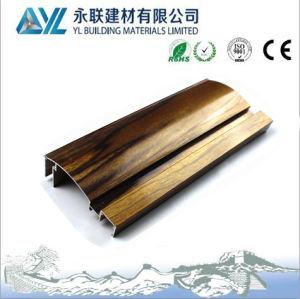 Du grain du bois fini de profil en aluminium extrudé pour châssis de fenêtre en aluminium