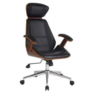 Black LeatherおよびPalisander Wood (FS-WB657)のオフィスLounge Arm Chair