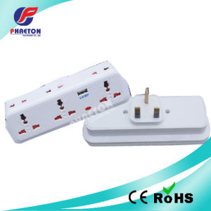 Plug britannique à 3 voies Multi Socket avec sortie USB Chargeur