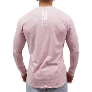 중국 제조자 주문 남자 폴리에스테 긴 소매 t-셔츠