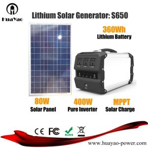 400Wリチウム電池のSolar Energy発電機の太陽電池パネルが付いている携帯用発電所