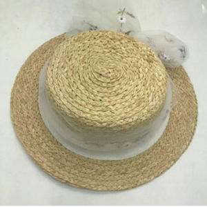Material Cecellent ráfia Verão Chapéu de Palha
