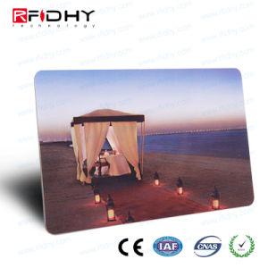 El acabado brillante MIFARE (R) 1K+tarjeta de doble frecuencia UHF RFID