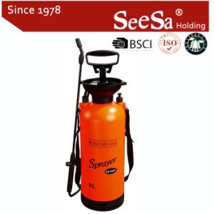 8L Jardín la mano de plástico alimentación Weed Bug Killer Mochila pulverizadora Bomba de presión (SX-CS8F)