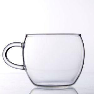 Zubehör kleine mehrfachverwendbare einzelne Wand-Glaskaffeetasse mit Griff