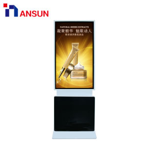 대 WiFi를 가진 Touchscreen를 광고하는 자전 토템 간이 건축물 LCD