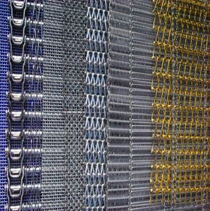 Adaptado de la fábrica de malla de alambre de acero inoxidable plano cinta transportadora cinta transportadora cable Flex Net
