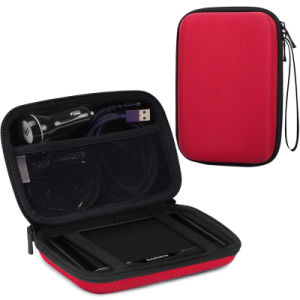 Populaires EVA en nylon rouge Sac de transport de sacs à main CAS POUR LE GPS (FRT2-434)
