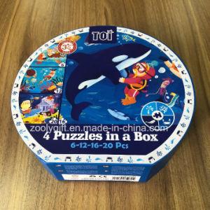 Puzzle de vacaciones de embalaje Caja de regalo en forma de papel reciclado aglomerado Puzzles Caja de papel