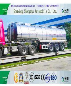 Di 45 Cbm del trasporto di alluminio della lega dell'autocisterna rimorchio liquido semi