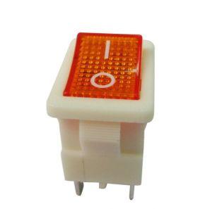 Interruttore di attuatore del cambio di stato di funzionamento del tasto di posizione di potere 12A250VAC Dpst 2 dell'UPS micro con indicatore luminoso