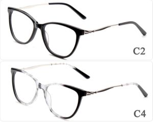 De online Lage Fabrikant van Eyewear van de Acetaat van de Manier van het Embleem van de Douane MOQ In het groot in de Klaar Bril van de Glazen van het Frame van de Voorraad Nieuwe Optische
