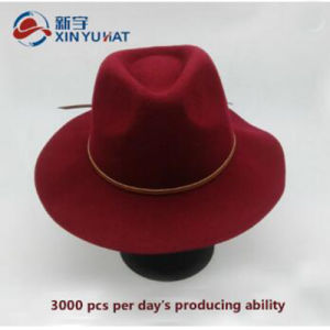 古典的なワインの広い縁のソフト帽の帽子の冬のウールのフェルトの人の女性のソフト帽の帽子