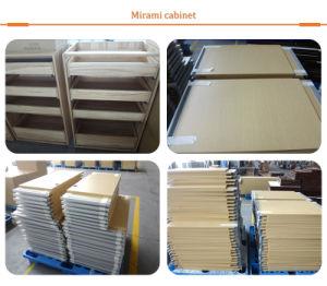 Armários de cozinha de melamina mobiliário com placa de partículas provenientes da China