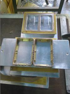 Bandeja de lanzadera manual única cabeza de la máquina de soldadura de alta frecuencia