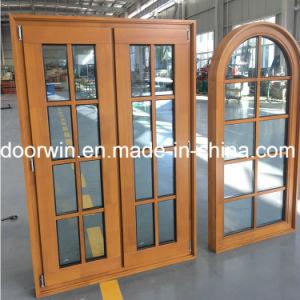 Migliore finestra di vetro superiore incurvata della finestra del doppio di prezzi oscillazione con il legno solido del teck