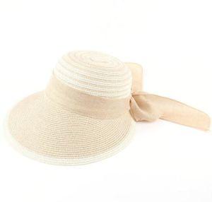 Dama de la visera de la moda playa sombrero de ala gran sombrero de paja
