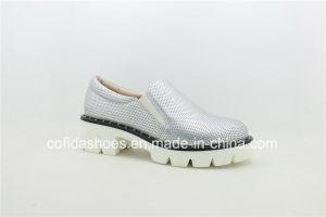 Fashion Silver Lady talon bas Chaussures occasionnel