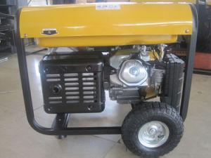 5kw/5kVA/5000wattはハンドル及び車輪が付いているシリンダーガソリン発電機を選抜する