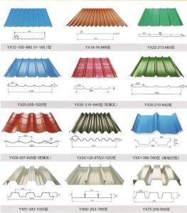 Fer tuile de toit en tôle en acier de faire machine à profiler