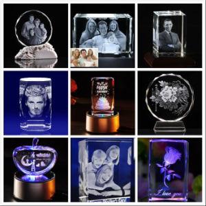 cristal du laser 3D à l'intérieur de la gravure Hsgp-5kb machine-machine