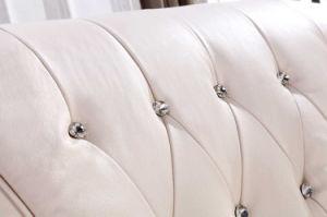 居間の高品質のヨーロッパの現代ホーム家具の革ソファー