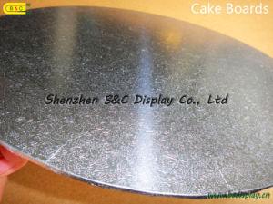 Tausendstel-Lieferanten-graue Vorstand-Kuchen-Vorstände mit Blumen-Rändern mit SGS (B&C-K074)
