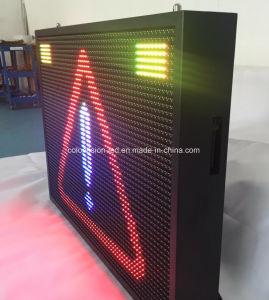 Segno esterno della visualizzazione della freccia di sicurezza stradale del quadro comandi del LED di colore completo di traffico P10/P16/P20