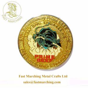 Catena principale della moneta di oro del metallo di sfida del blu marino militare su ordinazione della libbra