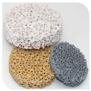 Moulage de précision d'alimentation professionnel en céramique de zircone filtre en mousse