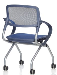 Tecido de malha de mobiliário moderno Escritório de Treinamento Reunião Muti-Using cadeira dobrável