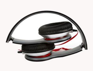 Faltender preiswerter fördernder Geschenk-Kopfhörer mit Flachkabel-und 3.5mm Ohr-Stecker