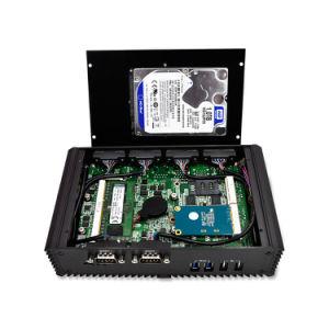 Mini calcolatore Intel Celeron 3205u del PC di Qotom-Q305p una lan di 2 gigabit