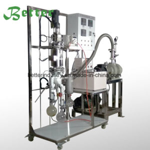 Lab chemin court de pétrole brut vide la distillation fractionnée